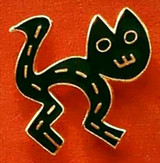 Black Cat Brooch - Peru, ca. 1300 - 1438 AD,  Virginia Museum of Fine Arts - Photo Museum Store Company