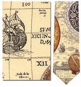 Antique Sun Dials Over Map Necktie - Museum Store Company Photo