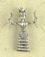 Minoan Snake Goddess Pendant on Cord : The Goddess Collection - Photo Museum Store Company