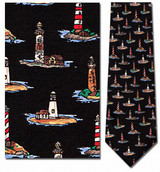 Lighthouses Repeat Necktie - Museum Store Company Photo