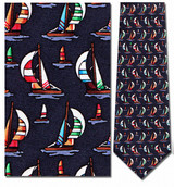 Colorful Sailboats Necktie - Museum Store Company Photo