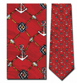 Anchors Medallion Necktie - Museum Store Company Photo