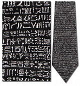 Hieroglyphics - The Rosetta Stone Necktie - Museum Store Company Photo