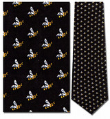 Bees Mini Repeat Necktie - Museum Store Company Photo