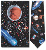 Outer Space - Stars, Planets, Comets Necktie - Museum Store Company Photo