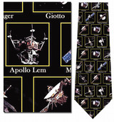 Space Toys - Satellites, etc. Necktie - Museum Store Company Photo