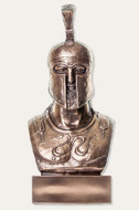 Greek Warrior Bust - Hoplite Leonidas - Metallic Bronze Finish   - Museum Store Company Photo