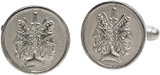 Janus double headed coin  cufflinks - Museum Shop Collection - Museum Company Photo