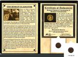 Genuine Gladiator: Roman Coin of Emperor Constantius II Album : Authentic Artifact - Museum Company Photo