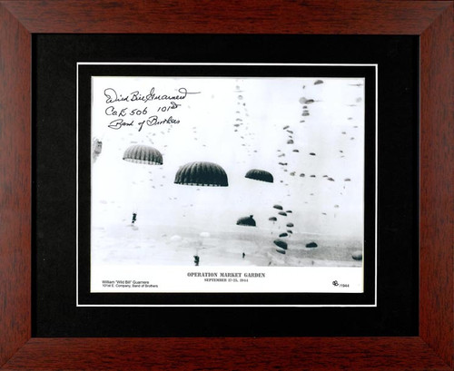 WWII - Band of Brothers - Wild Bill Guarnere Autographed Photo Framed - Photo Museum Store Company