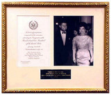 John Fitzgerald Kennedy (JFK) & Jacqueline Bouvier Onassis Kennedy Inauguration Inviation, 1961 - Photo Museum Store Com