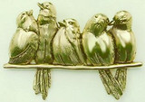 The Bird Perch Five Birds on A Branch Brooch, Hector Giacomelli - Photo Museum Store Company