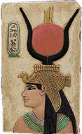 Cleopatra Relief (Posing as Isis)  :  Temple of Denderah, Egypt. 35 B.C. - Photo Museum Store Company