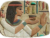 Egyptian Princess Relief :  Temple of Abydos, Egypt. Dynasty XIX 1270 B.C. - Photo Museum Store Company