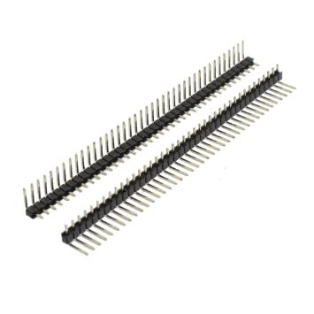 Pin Header Right Angle 90 Degree Bent 1 ROW 40pin Male 2.54mm Single Strip