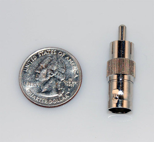 RCA male Av A/v to BNC Female male coax connector adapter