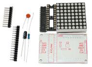 MAX7219 8X8 Red Dot LED Matrix Kit