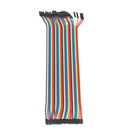 Jumper Wires Pack of 40- Female-to-Female with 2.54mm to 2.0mm