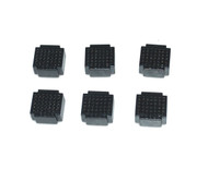 6 x Breadboard of 35 holes for Combined Breadboards: Black