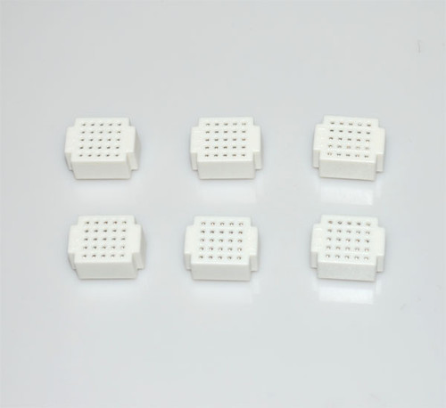 6 x Breadboard of 25 holes for Combined Breadboards: White
