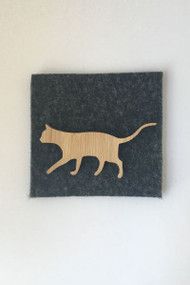 simplicity Pussy Cat Brooch Bamboo