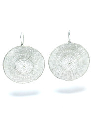 Woven Silver Circle Earrings BLE68S