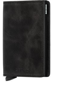 Secrid Slim Wallet Vintage Black from the front.