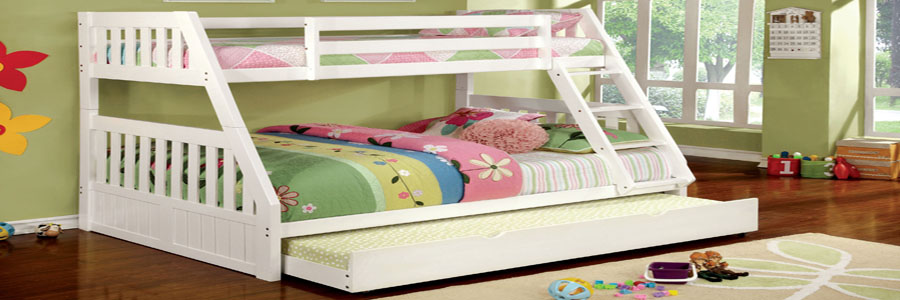 White Twin Over Full Bunk bed