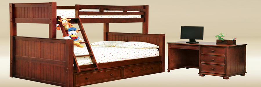 Bunk Bed Twin Full Dark Pecan