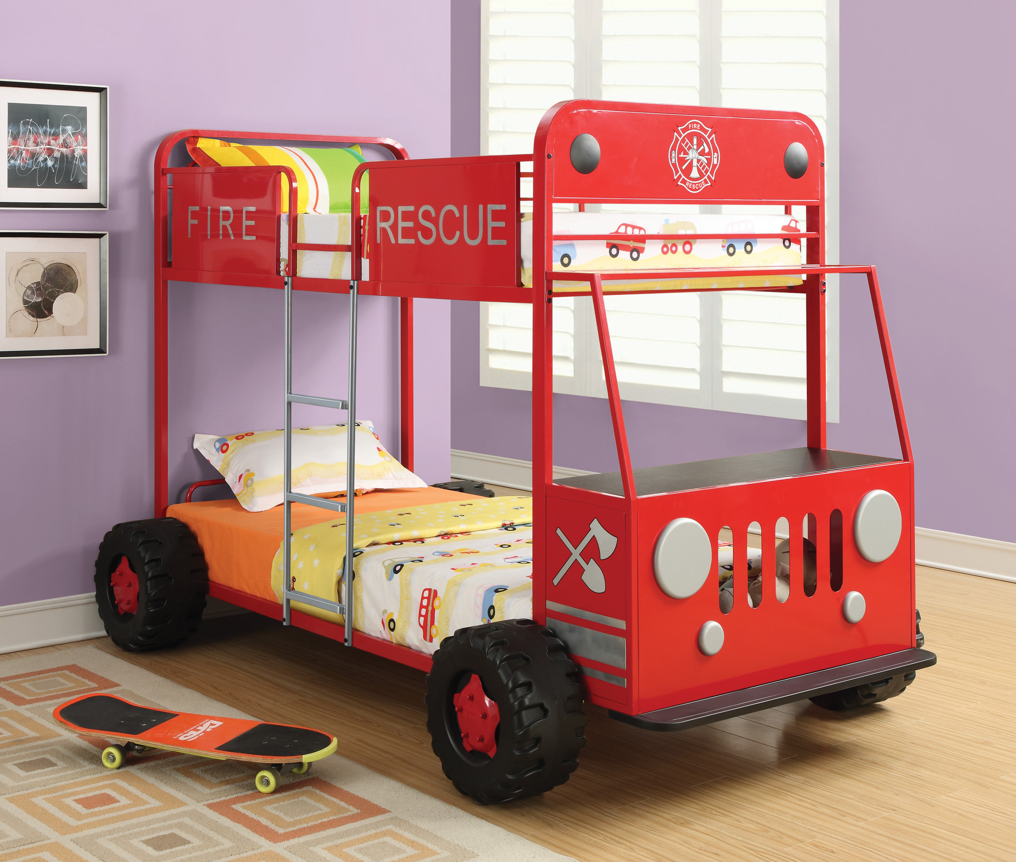 Fire Rescue Metal Bunk Bed
