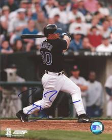 Brandon Berger Autographed Kansas City Royals 8x10 Photo