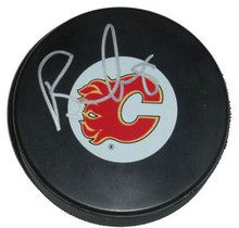 Brendan Morrison Autographed Calgary Flames Hockey Puck