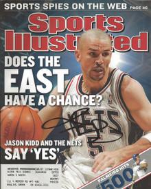 Jason Kidd Autographed New Jersey Nets Sports Illustrated