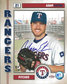 Adam Eaton Autographed Texas Rangers Studio 8x10 Photo