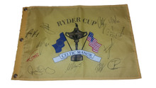 2010 Team Europe Autographed Celtic Manor Ryder Cup Flag Rory McIlroy