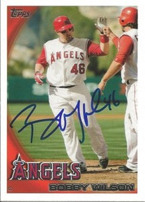 Bobby Wilson Signed Los Angeles Angels 2010 Topps Card