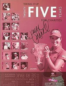 Morgan Pressel Signed 2009 Jamie Farr Classic Program