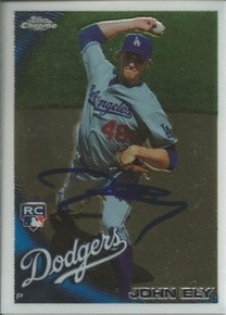John Ely Autographed Dodgers 2010 Topps Chrome Rookie Card