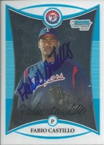 Fabio Castillo Autographed Texas Rangers 2008 Bowman Rookie Card