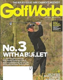 Luke Donald Signed GolfWorld Magazine March 7 2011