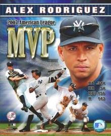 Alex Rodriguez New York Yankees 2007 AL MVP Unsigned 8x10 Photo