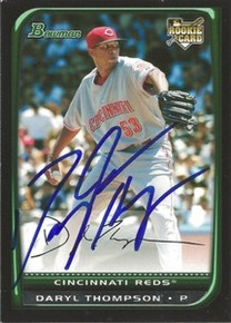 Daryl Thompson Signed Cincinnati Reds 2008 Bowman Rookie Card