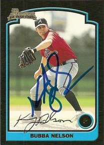 Bubba Nelson Signed Braves 2003 Bowman Rookie Card