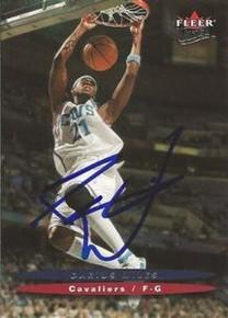 Darius Miles Signed Cleveland Cavaliers 2003-2004 Fleer Ultra Card
