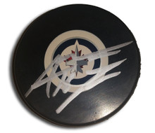 Andrew Ladd Autographed Winnipeg Jets Hockey Puck