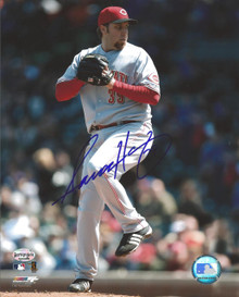 Aaron Harang Autographed Cincinnati Reds 8x10 Photo
