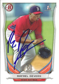 Rafael Devers Autographed Red Sox 2014 Bowman Rookie Card