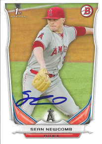 Sean Newcomb Autographed Angels 2014 Bowman Rookie Card