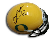 Charles Nelson Autographed Oregon Ducks Yellow Alternate Mini Helmet