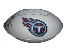 Kerry Collins Signed Tennessee Titans Logo Football
